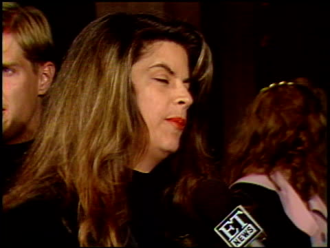 kirstie alley at the 'look who's talking too' premiere at century plaza in century city, california on december 13, 1990. - century plaza stock videos & royalty-free footage
