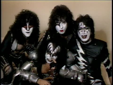 Kiss Gene Simmons Paul Stanley Ace Frehley and Eric Carr say 'I want my MTV'
