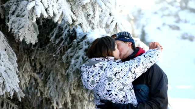 kiss me darling - tree hugging stock videos & royalty-free footage