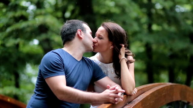 kissing on the summer rain - dating stock videos & royalty-free footage