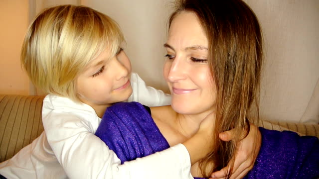 kissing our mum - mother daughter kiss stock videos & royalty-free footage