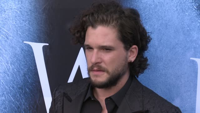 kit harington at 'game of thrones' season 7 premiere at walt disney concert hall on july 12, 2017 in los angeles, california. - premiere stock videos & royalty-free footage
