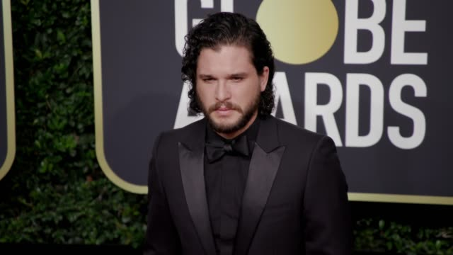 kit harington at the 75th annual golden globe awards at the beverly hilton hotel on january 07 2018 in beverly hills california - golden globe awards stock videos & royalty-free footage