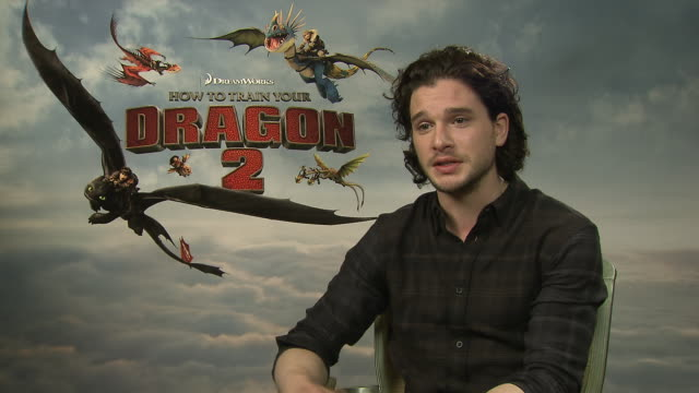 interview kit harington being at the cannes film festival at 'how to train your train your dragon 2' interview on may 15 2014 in cannes france - how to train your dragon stock videos & royalty-free footage