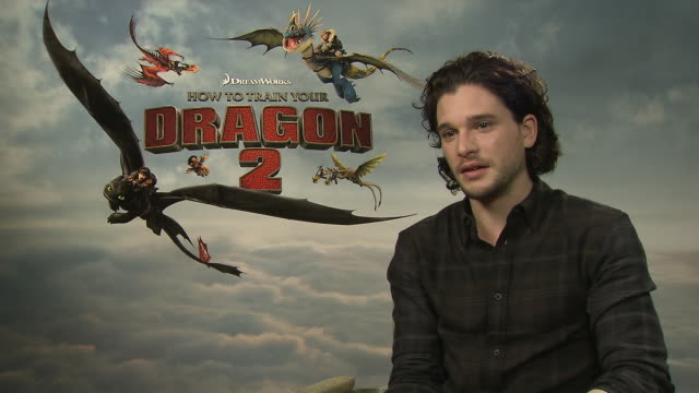 interview kit harington on lily allen turning down a role for 'game of thrones' at 'how to train your train your dragon 2' interview on may 15 2014... - how to train your dragon stock videos & royalty-free footage