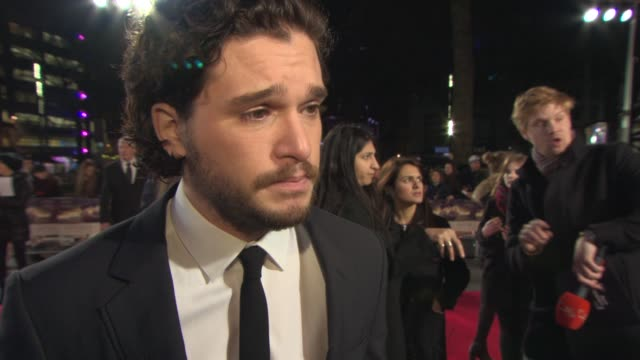 kit harrington on the importance of vera brittain's story, the similarities between the characters and the rest of the cast, if he would make a good... - leicester square stock videos & royalty-free footage