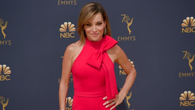 kit hoover at the 70th emmy awards arrivals at microsoft theater on september 17 2018 in los angeles california - emmy awards stock videos & royalty-free footage