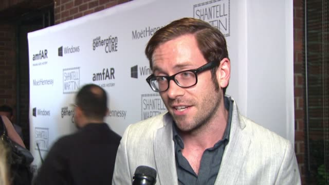 interview – kit williamson on wanting to be part of the generation that cures hiv at amfar generationcure solstice at hudson common at the hudson... - retrovirus stock videos and b-roll footage