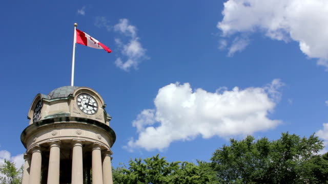 stockvideo's en b-roll-footage met kitchener clock tower - ontario canada