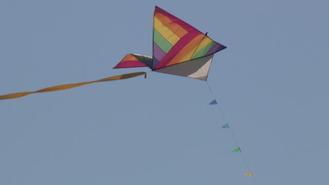 kite 14 - hd 1080/60i - hovering stock videos & royalty-free footage