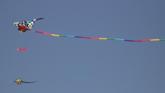 kite 6  1080/60i - three objects stock videos & royalty-free footage