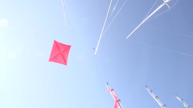 Kite Flying Above The Boat