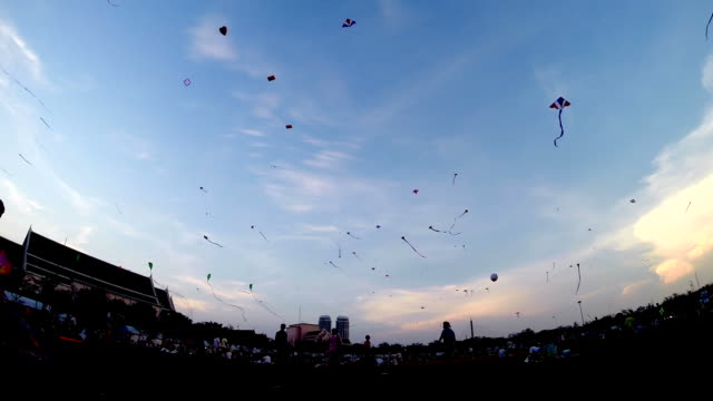 kite flying festival - kite toy stock videos and b-roll footage
