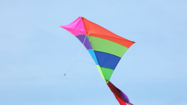 cu la kite flying in sky / eastville, virginia, usa - kite toy stock videos and b-roll footage