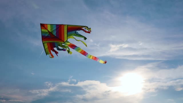 kite flying in the sky - kid with kite stock videos & royalty-free footage