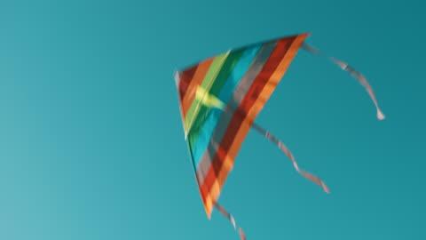vídeos y material grabado en eventos de stock de kite volando en el cielo - variación