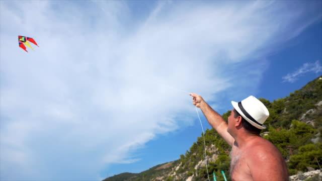 Kite release on the beach