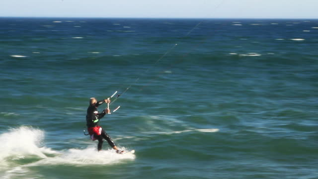 kitesurfer in action - one mid adult man only stock videos & royalty-free footage