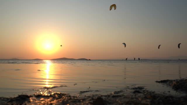 kitesurfing - kite sailing stock videos & royalty-free footage