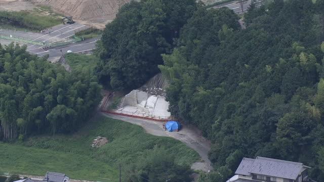aerial, kitora tomb, nara, japan - 記念碑点の映像素材/bロール