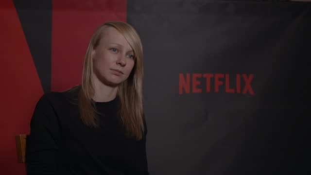 INTERVIEW Kitty Green on her work and their themes at Berlin Film Festival 'Casting JonBenet' Interview at Ritz Carlton on February 13 2017 in Berlin...