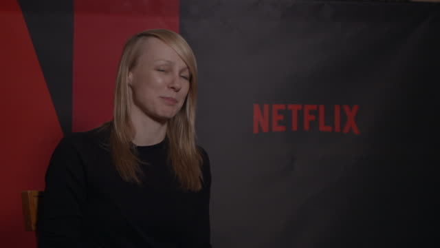 kitty green on how netflix has helped documentary films at berlin film festival: 'casting jonbenet' - interview at ritz carlton on february 13, 2017... - documentary film stock videos & royalty-free footage