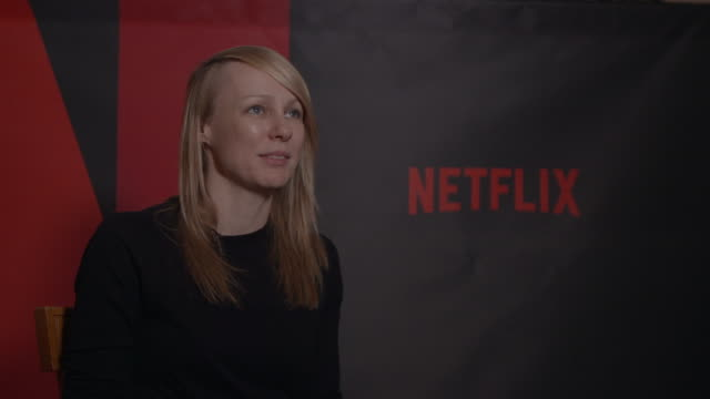 INTERVIEW Kitty Green on if she has any conclusions on the murder at Berlin Film Festival 'Casting JonBenet' Interview at Ritz Carlton on February 13...