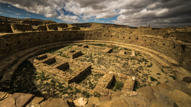 kiva, chaco canyon, new mexico - chaco culture national historical park stock videos & royalty-free footage