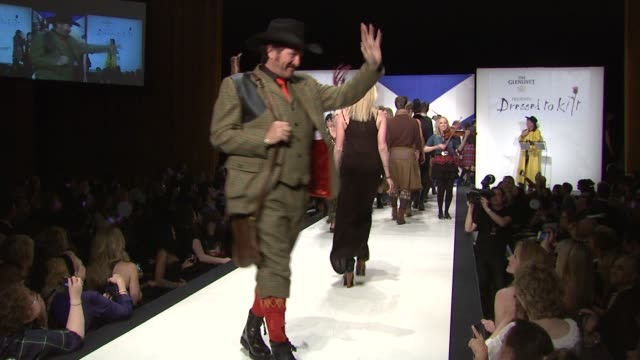 kix brooks and models at the 9th annual dressed to kilt charity fashion show at new york ny. - kilt stock videos & royalty-free footage