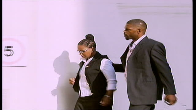 Mark Prince special report TX Central Criminal Court Mark Prince and Tracey Cumberbatch along to pretrial hearing at court General views Central...