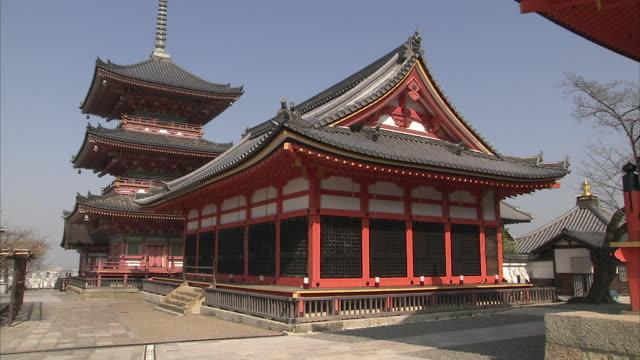 vídeos y material grabado en eventos de stock de ws td kiyomizu-dera temple, kyoto, japan - pagoda templo