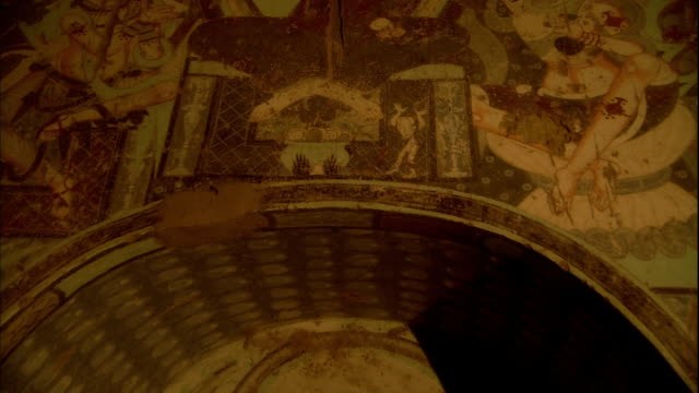 Kizil Caves The 80th cave Mural Boiling Punishment in the Hell Zoom In
