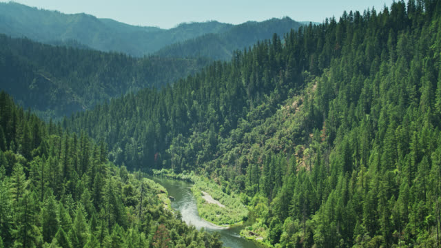 klamath river from the air - mountain range stock videos & royalty-free footage