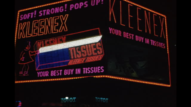 1954 MS LA Kleenex neon, New York City, New York, United States