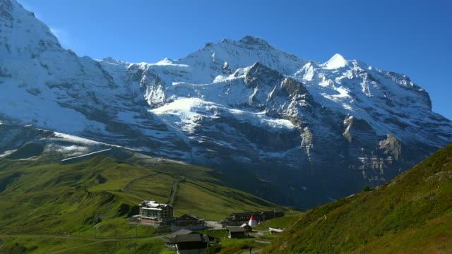 kleine scheidegg with jungfrau, bernese alps, canton of bern, switzerland - bernese alps stock videos & royalty-free footage