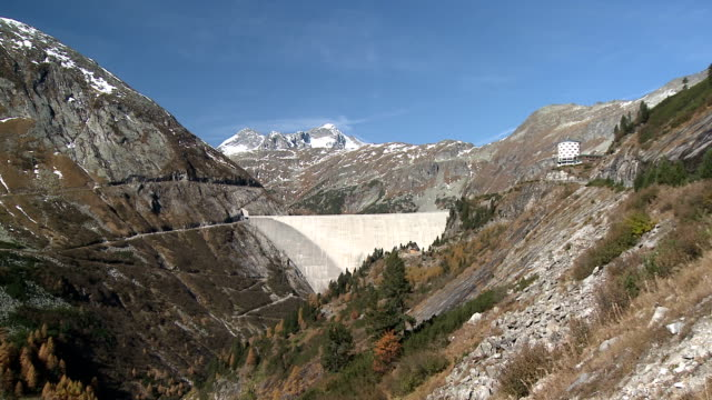 kölnbreinsperre dam - dam stock videos & royalty-free footage