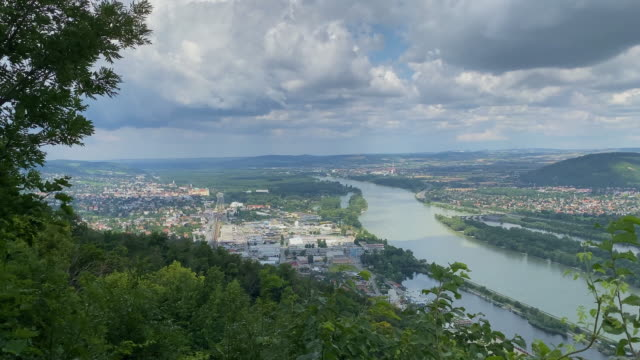 klosterneuburg danube valley - river danube stock videos & royalty-free footage