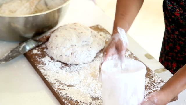 kneading dough - kneading stock videos and b-roll footage
