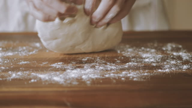 kneading dough - dough stock videos and b-roll footage