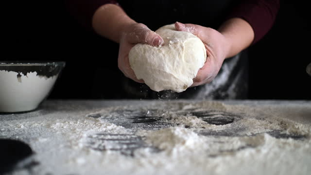 kneading loaf of bread with hands - loaf of bread stock videos & royalty-free footage