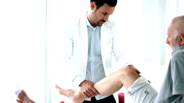 knee examination. - osteoporosis stock videos & royalty-free footage