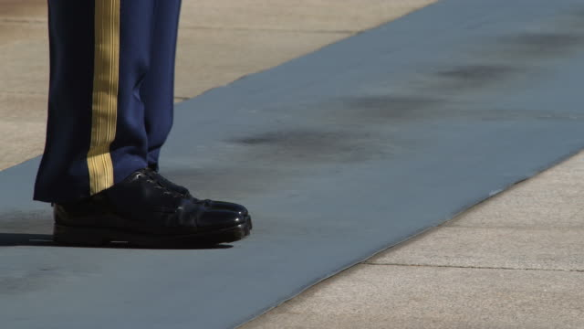 Knees-down view of guard at the Tomb of the Unknown Soldier in Arlington National Cemetery. Shot in May 2012.