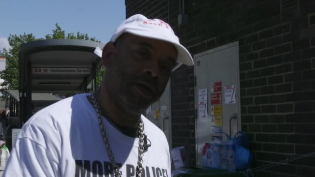 campaigners call for greater police presence in london uk london knife crime campaigners chatting to people outside walthamstow central station... - greater london stock videos and b-roll footage