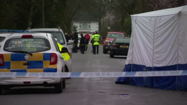 claims that bame victims are treated differently by the media england greater manchester hale barns ext various shots police cordon crime scene... - police chief stock videos and b-roll footage