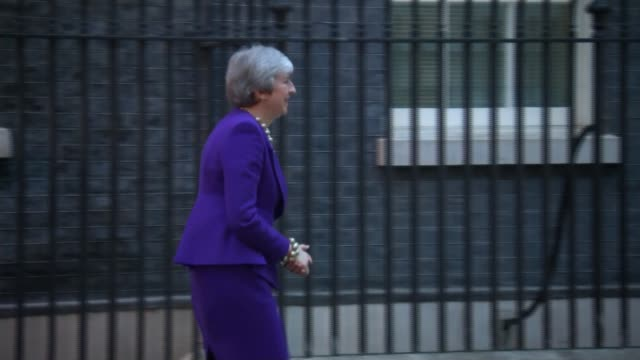 cressida dick claims there is a link between violent crime and falling police numbers england london downing street ext theresa may mp along for... - cressida dick stock videos & royalty-free footage