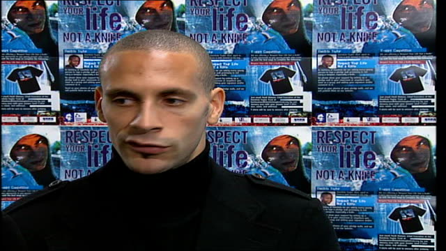 england footballer rio ferdinand launches new police campaign 'respect your life not a knife ' rio ferdinand footballer and supporter of 'respect... - new testament stock videos & royalty-free footage