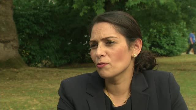 extension of stopandsearch powers has lukewarm reception from campaigners england london ext priti patel mp interview sot the use of stop and search... - priti patel stock-videos und b-roll-filmmaterial