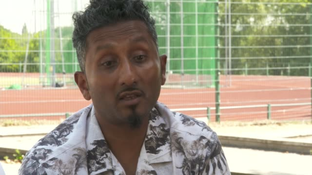 family of murder victim tashan daniel speak about his life and legacy england london hillingdon ext chandima daniel and leon haque interview sot - crime and murder stock videos & royalty-free footage