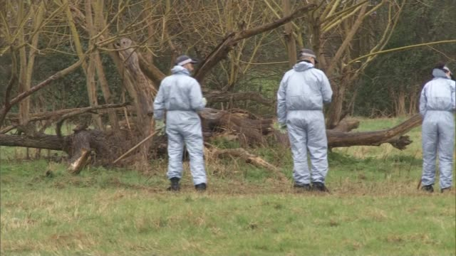 father of murdered teenager Jodie Chesney makes appeal ENGLAND London Havering Romford Harold Hill EXT Forensic investigators at scene PAN Police...