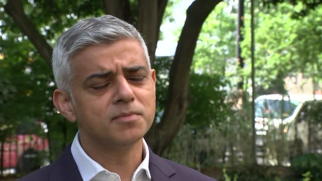 four killed in four days after spate of attacks in london england london ext sadiq khan interview sot on his reaction to tweets by us president... - präsident der usa stock-videos und b-roll-filmmaterial